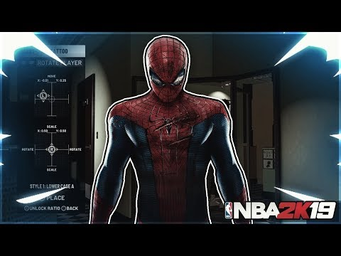 NBA 2K19 HOW TO MAKE SPIDERMAN TATTOO TUTORIAL BEST TATTOO TUTORIAL HOW TO MAKE SPIDERMAN IN MYPARK!