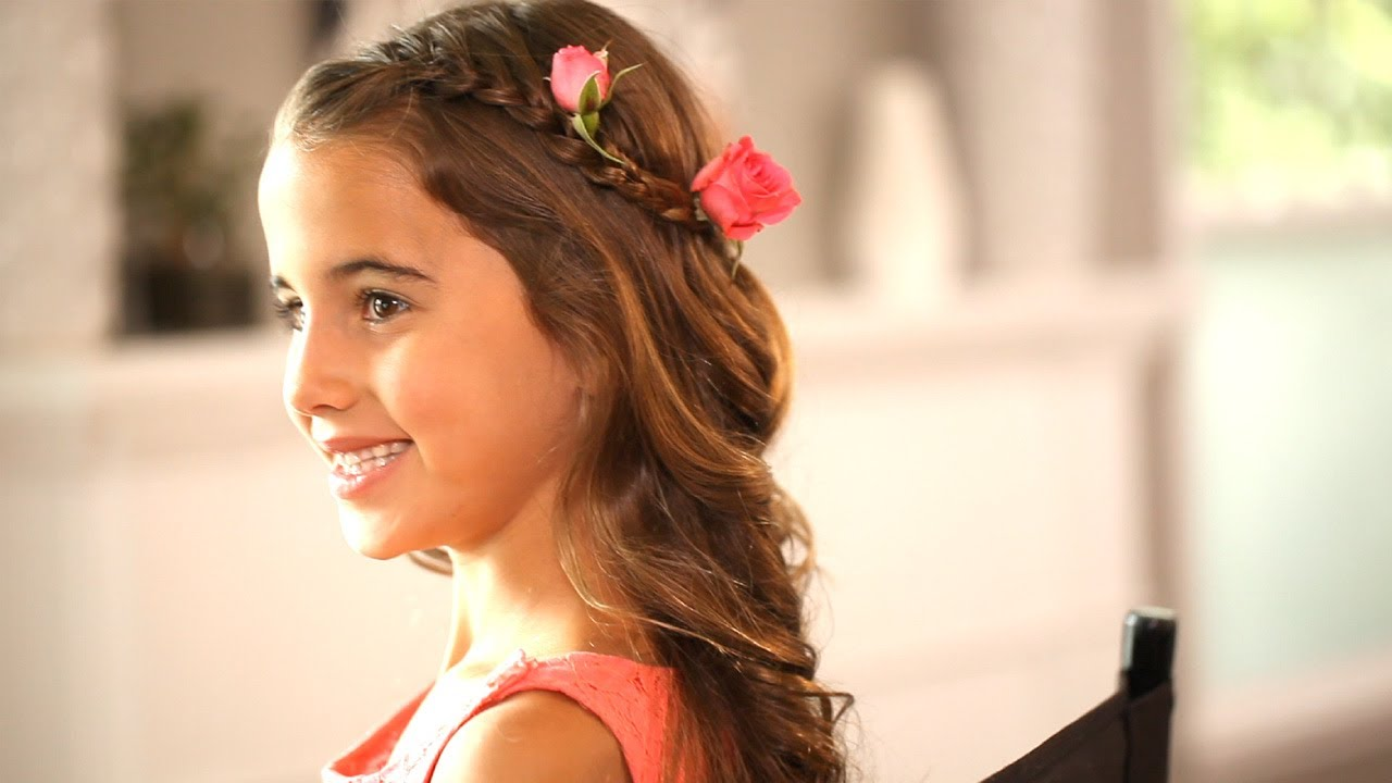 Flower Girl Hairstyles | Kin Community - YouTube