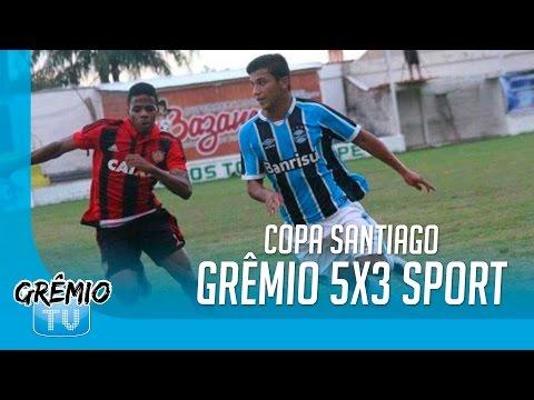 [BASE] Grêmio 5x3 Sport (Copa Santiago de Futebol Juvenil) l GrêmioTV