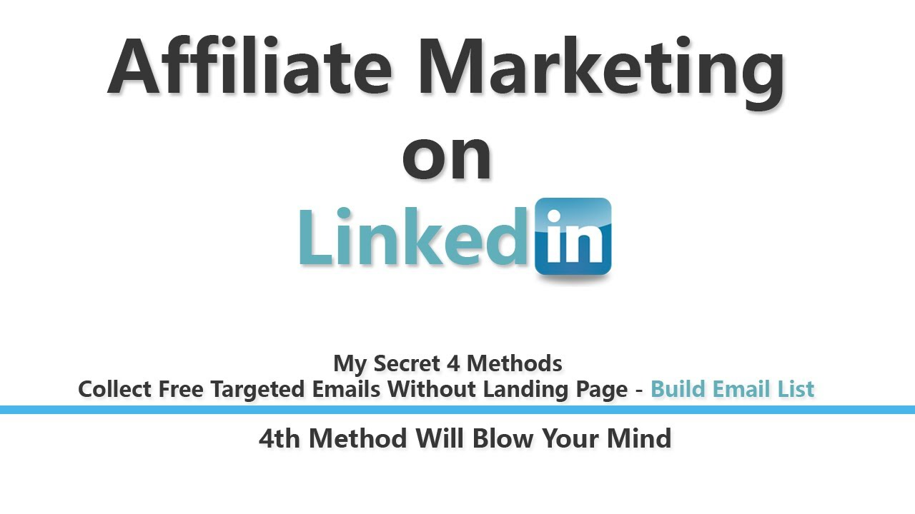 How to do Affiliate Marketing on LinkedIn | LinkedIn Affiliate Marketing - YouTube