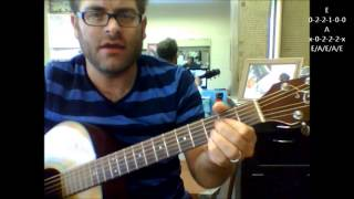 """How to play """"Got My Mind Set On You"""" by George Harrison on acoustic guitar"""