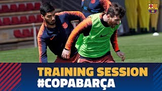SEVILLA - BARÇA | Squad train for Copa del Rey final