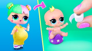 10 DIY Baby Doll Hacks and Crafts  Miniature Baby, Toilet Paper, Stroller and More!