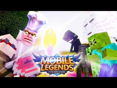 MONSTER SCHOOL VS (MOBA) Mobile Legends (Minecraft Animation)