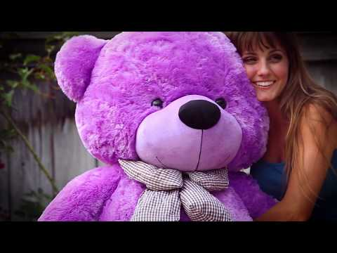 5ft Life Size Purple DeeDee Cuddles | Teddy Bear Gift!🎁 | Giant Teddy Brand
