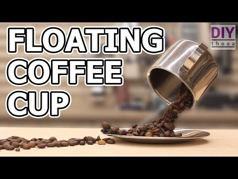 How to make a floating Coffee Cup Sculpture