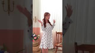 딸기 리본 원피스잠옷 …