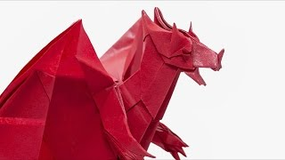 Origami Devil Dragon - Time-lapse  (Jo Nakashima)