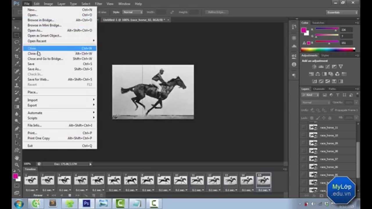 [MyLớp.edu.vn] Tạo ảnh gif động trong Phototoshop CS6