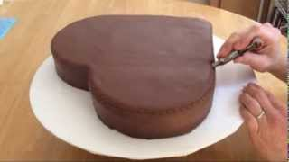 Heart Shaped Cake Part 1: Cutting, Covering, and Crimping thumbnail