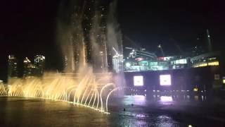 Dancing Fountain in Arabic song at Dubai Mall - Burj Khalifa