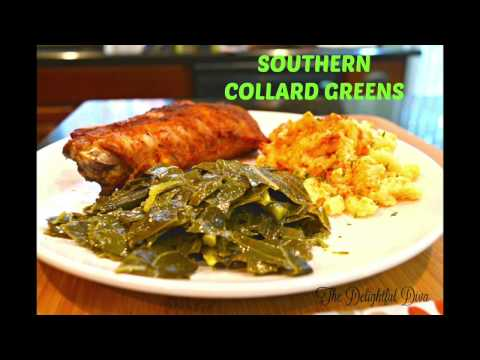 The BEST Southern Collard Greens - How to Clean, Cut, and Cook | The Delightful Diva