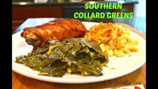The BEST Southern Collard Greens - How to Clean, Cut, and Cook   The Delightful Diva