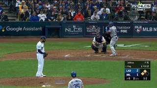 Yasiel Puig 3-Run Home Run vs Brewers   Dodgers vs Brewers NLCS Game 7