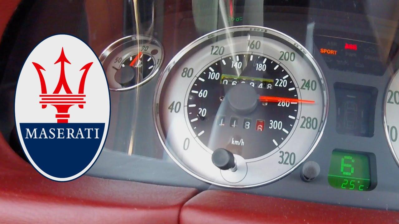 Maserati 4200 GT 500 HP Acceleration 260 km/h Test Drive Sound CambioCorsa F1