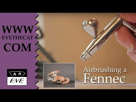 How to airbrush a Fennec doll