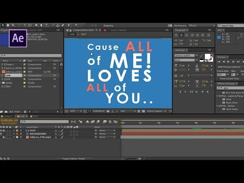 After Effects Tutorial - Basic Typography & Motion Graphics [INDONESIA]