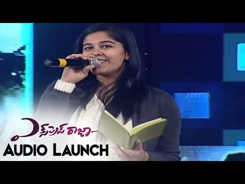 Lipsika Singing Ee Vintha Needhiga Song At Express Raja Audio Launch || Sharvanand,Surabhi