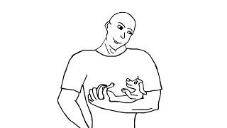 ШОК! Парень кормит собаку грудью \  SHOCK! Man breastfeeding dog