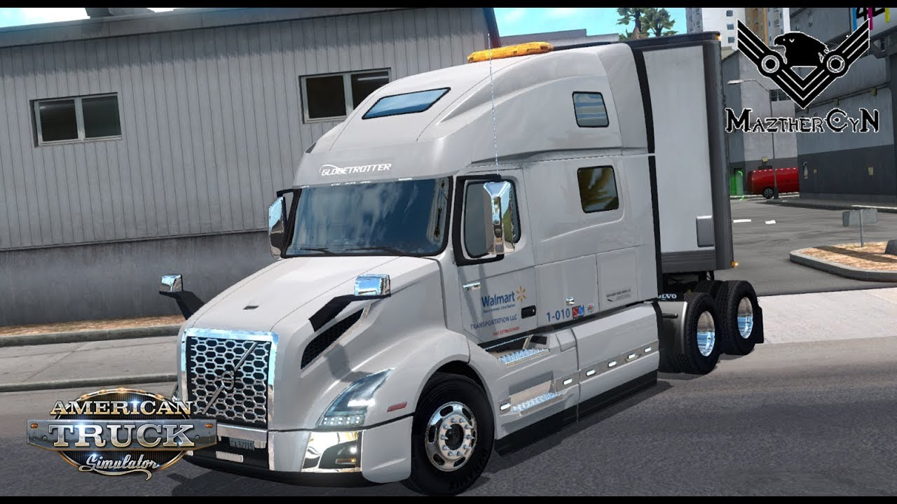 walmart volvo vnl 760 2018 american truck simulator youtube. Black Bedroom Furniture Sets. Home Design Ideas