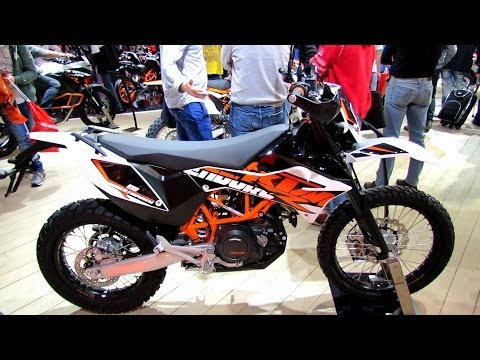 2014 KTM 690 Enduro R Walkaround - 2013 EICMA Milan Motorcycle Exhibition