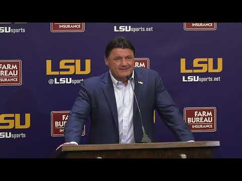 See what LSU coach Ed Orgeron has to say on National Signing Day