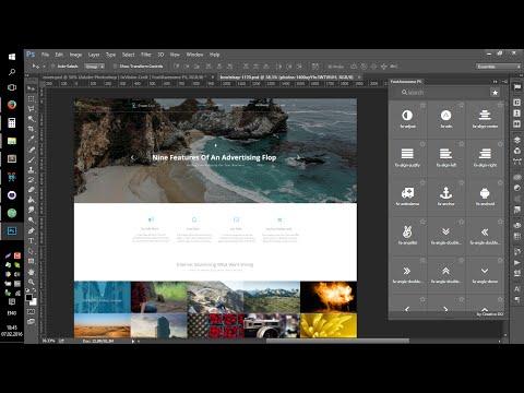 Website Design Speed Art #1   WebDesign Master