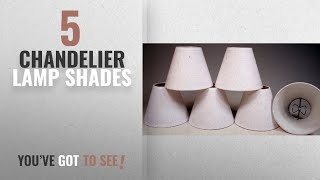 Top 10 Chandelier Lamp Shades [2018 ]: Creative Hobbies White Linen Fabric Candle Lamp & Chandelier