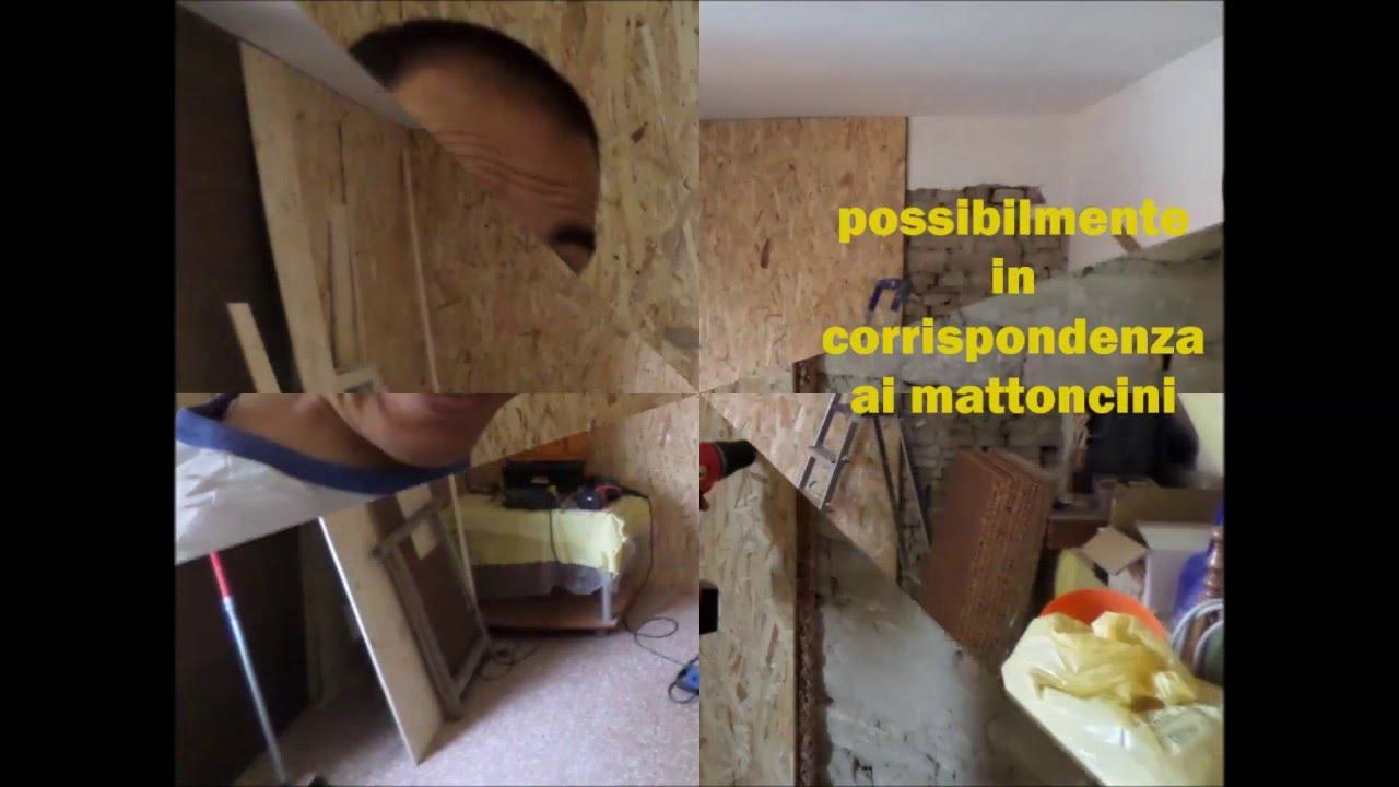 Isolare Parete Interna A Nord parete isolata con sughero da 2 cm senza usare collanti e spendendo poco