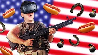 America Simulator! - Hot Dogs Horseshoes & Hand Grenades - Virtual Reality Gun Sandbox HTC Vive