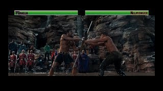 T'Challa vs Killmonger...with healthbars