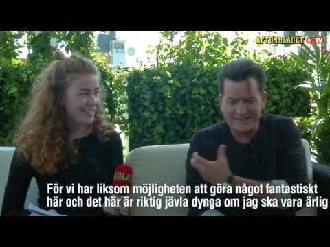 Charlie Sheen wrecking Swedish interviewer