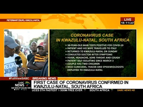 Coronavirus | Pietermaritzburg residents concerned about SA's first COVID-19 case