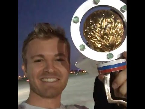 Nico Rosberg: Live Video P1 Russian GP from the plane with David Coulthard taking over!!