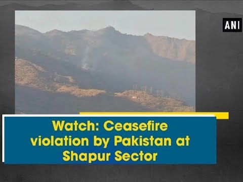 Watch: Ceasefire violation by Pakistan at Shapur Sector - Kashmir News