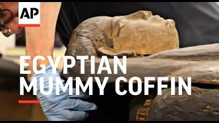 US scientists open Egyptian Mummy coffin