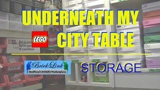 What's Under My Lego City Table? Bricklink Storage!