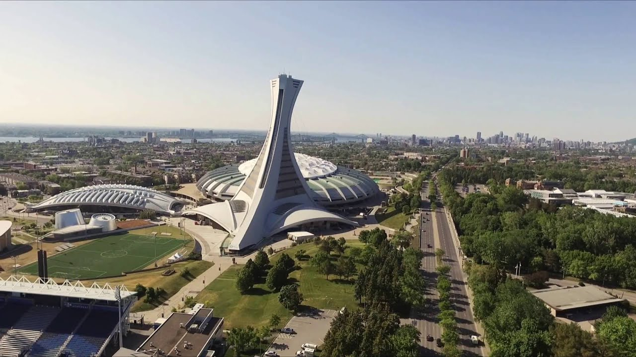 Drone Olympic Tower - Montreal at its best