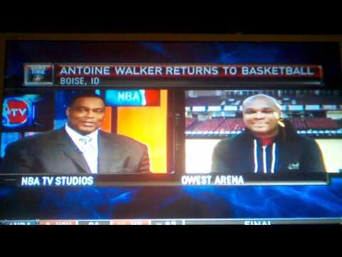 Antoine Walker interview on NBATV from the Idaho Stampede