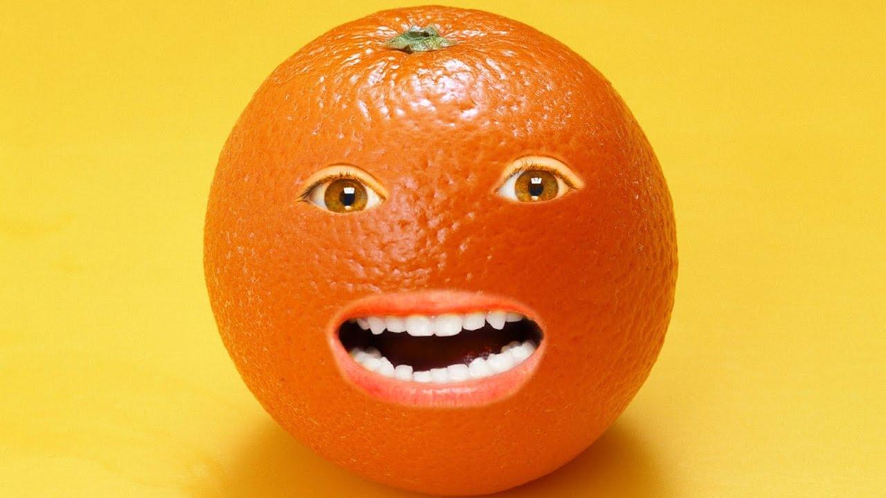 Прикольные рисунки с апельсином