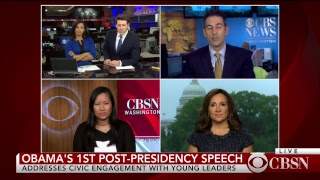 LIVE: Obama's First Post-Presidential Address on CBSN Part 2