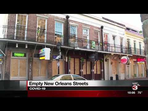 Empty New Orleans streets