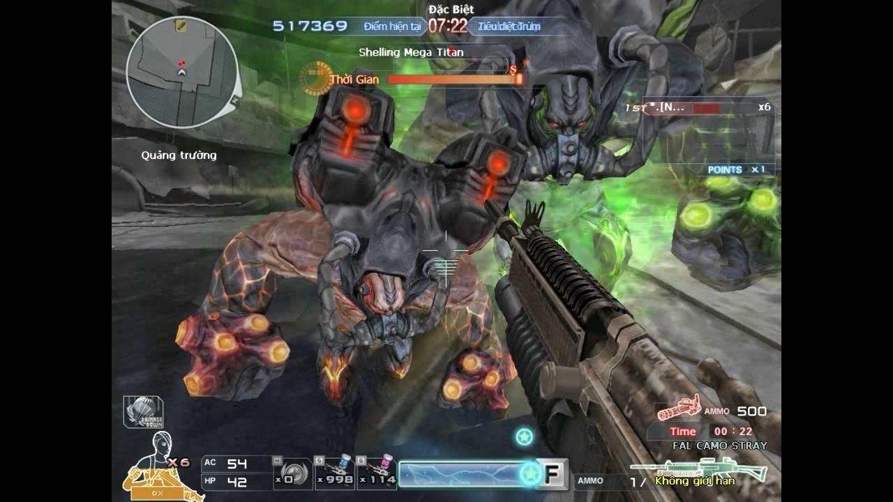 Chế độ AI cf - Miệng núi lửa : 3 vs 1 ( HT.AI )