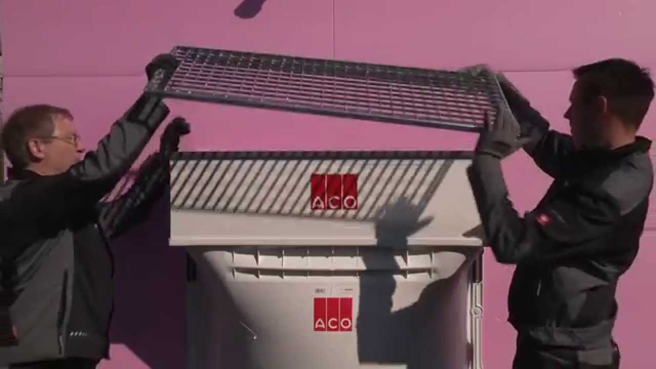 montage aco lichtschacht mit einem fixen aufstockelement youtube. Black Bedroom Furniture Sets. Home Design Ideas