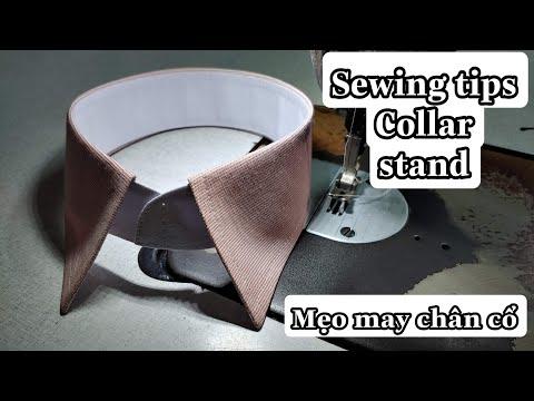 Mẹo May Vá #2: Cách Làm Chân Cổ Áo Sơmi  Tròn Đẹp Và Êm - Sewing shirt collar | Np Tailor