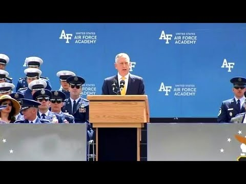 Defense Secretary Mattis commencement address at the US Air Force Academy  May 23, 2018  Colorado Sp