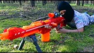Nerf  Sniper vs Sniper!!!НЁРФ БИТВА СНАЙПЕР ПРОТИВ СНАЙПЕРА
