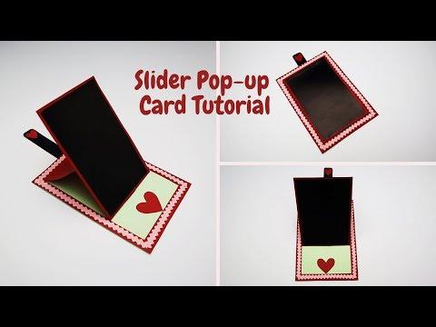 DIY-Slider Pop Up Card For Scrapbook | How to Make Photo Slider Pop Up Card