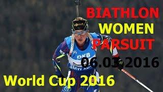 BIATHLON/WOMEN /PARSUIT / World Championship 2016/6 of March/ Norway / HOLMENKOLLEN