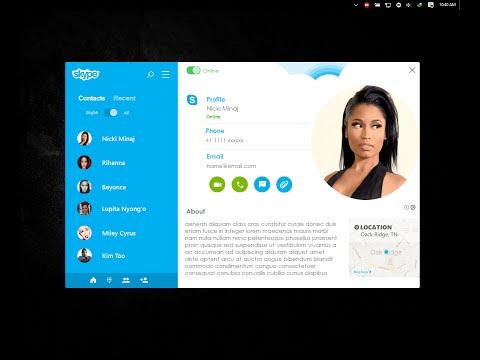 C# Rich UI programming-   Skype  concept prototype, Bunifu UI 現代設計用戶界面